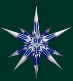 blau/weiß mit Silbermuster