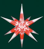 rot/weiß mit Silbermuster